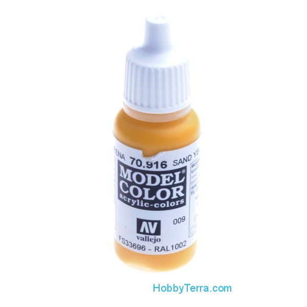 Vallejo  70916 Model Color 17ml. 009-Sand yellow