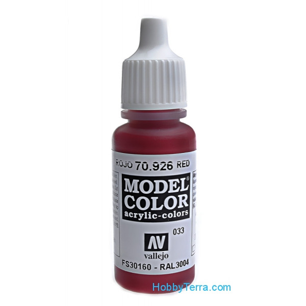 Model Color 17ml. 033-Red