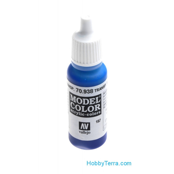 Vallejo  70938 Model Color 17ml. 187-Transparent blue