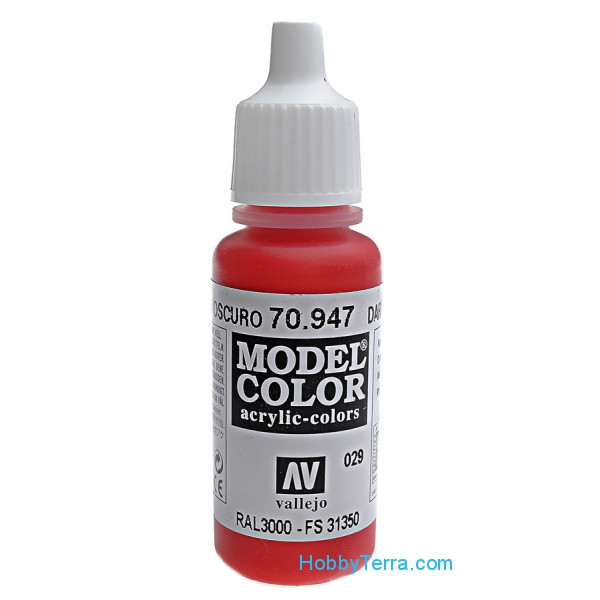 Model Color 17ml. 029-Red