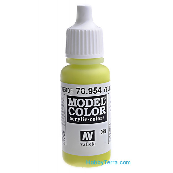 078: Model Color 954-17ML. Yellow Green