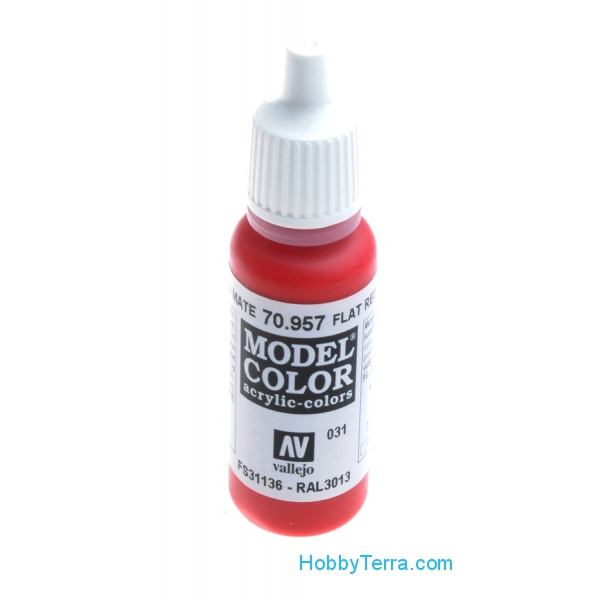 Vallejo  70957 Model Color 17ml. 031-Flat red