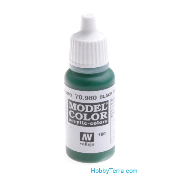 Model Color 17ml. 100-Black green