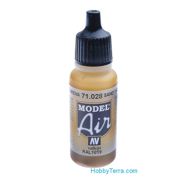Vallejo  71028 Model Air 17ml. Sand Yellow