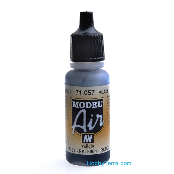 Vallejo  71057 Model Air 17ml. 057-Black