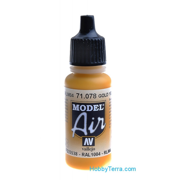 Vallejo  71078 Model Air 17ml. 078-Gold yellow