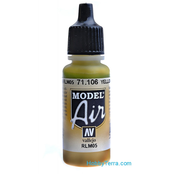 Vallejo  71106 Model Air 17ml. 106-Yellow lazure RLM 05