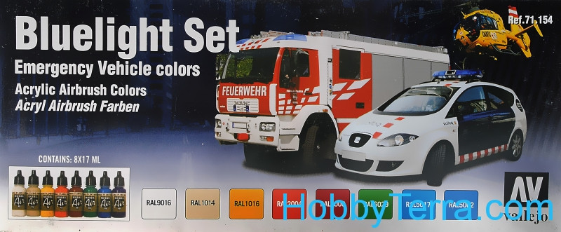 "Model Air Set ""Emergency vehicle colors"", 8pcs"
