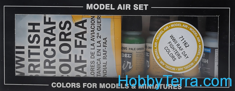 "Model Air Set ""WWII RAF Day Fighters"", 8pcs"