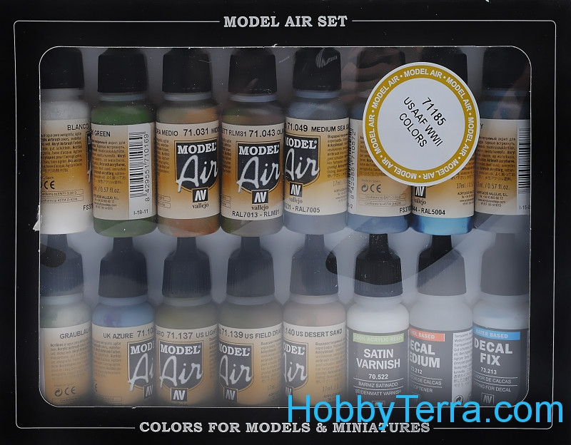 "Model Air Set ""USAF aircraft WWII"", 16pcs"