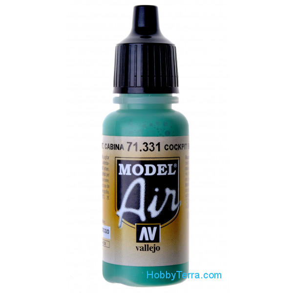 "Vallejo  71331 Model Air 17ml. Cockpit Emerald Green ""Faded"""