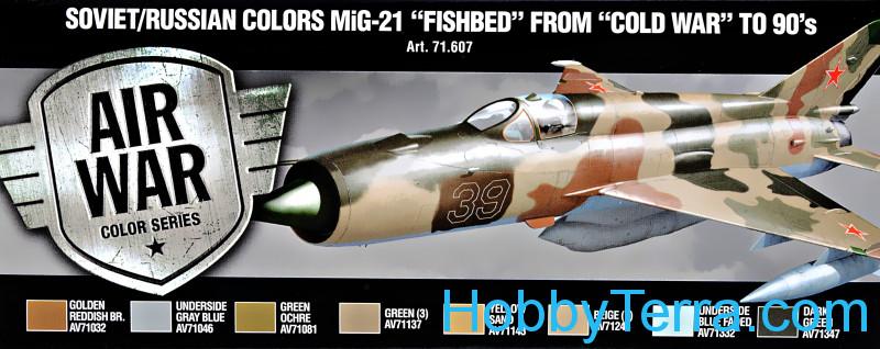 Vallejo 71607 Paint Set  Air Soviet/Russian colors MiG-21