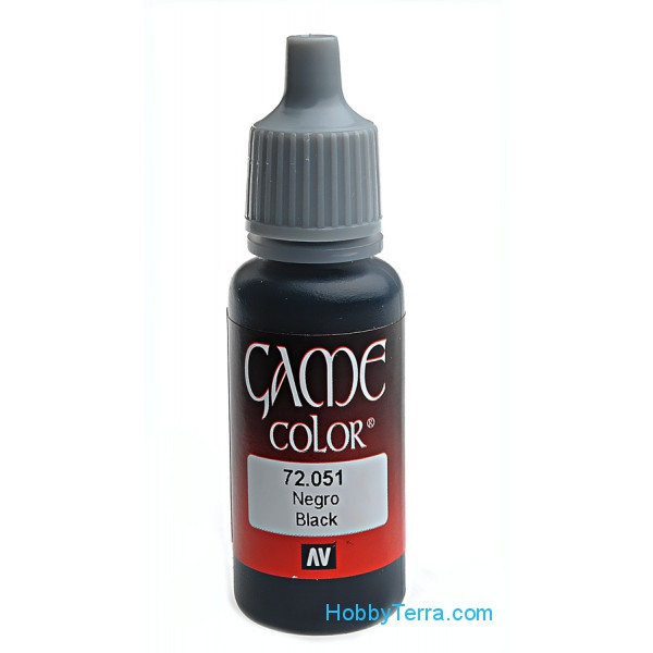 Game Color 17ml. 051-Chaos black