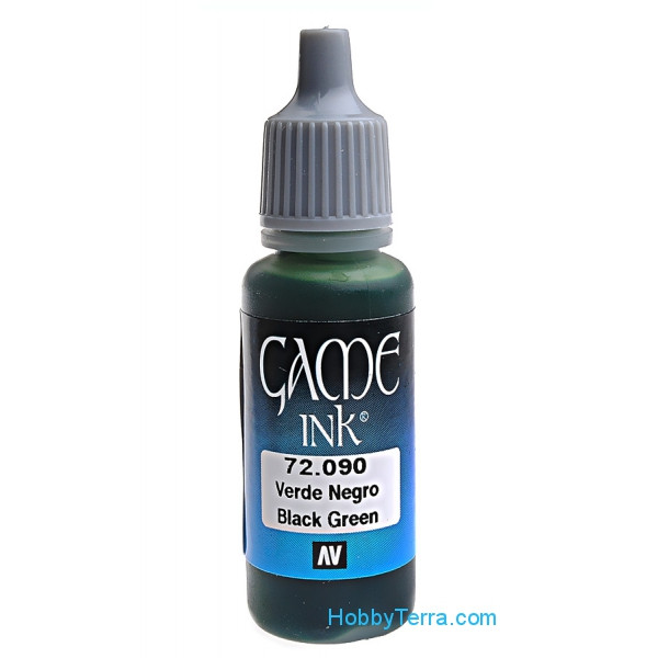 Game Ink 17ml. 090-Black green