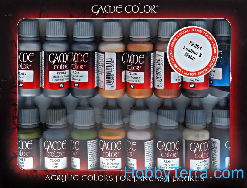 Game Color set, Leather and Metal, 16 pcs