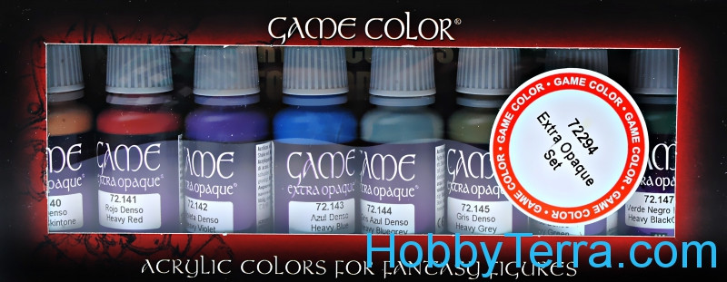 Game Color Set. Extra Opaque colors, 8x17ml