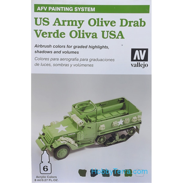 "Set of paints ""U.S. Army olive drab"", 6*8ml"