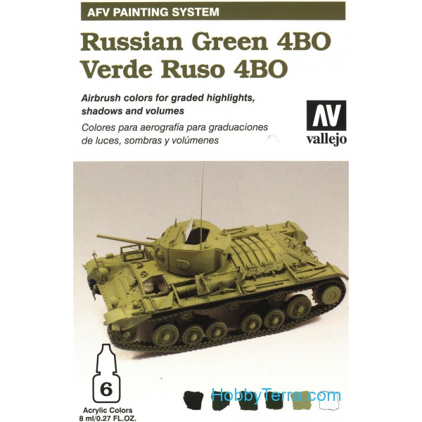 AFV Russian green 4BO armour painting system, 6*8ml