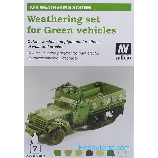 Weathering set for Green vehicles, 7*8ml