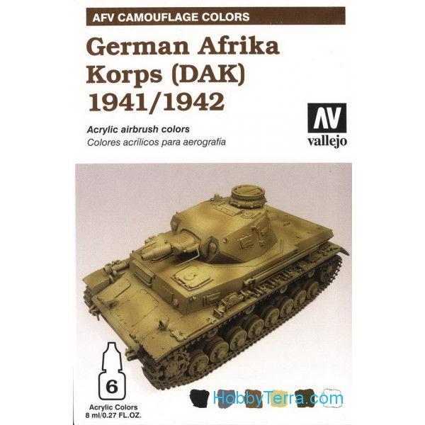 AFV German afrika korps 1941/42 (DAK), 6x8ml