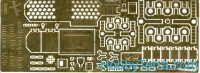 Photo-etched set 1/35 for Su-76M self-propelled gun, interior