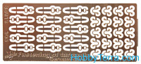 Photo-etched set 1/35 Fastening of tarpaulin German cars