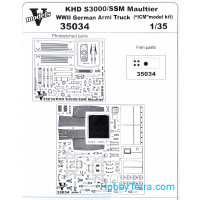 Photo-etched set 1/35 KHD S3000 /SSM Maltuier WWII German army truck, for ICM kit