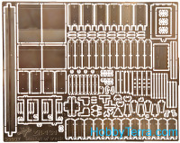 Photo-etched set 1/35 ZiL-131 basket of truck, for ICM kit