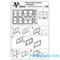 Photo-etched set 1/35 removable lateral windows Le.gl. Einheit (Kfz.1)