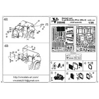 Photo- etched set 1/35 Le.gl.unitary car (Kfz. 2) radio car, for ICM kit
