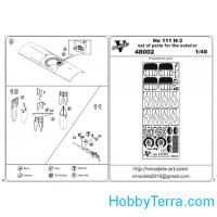 Photo-etched set 1/48 He 111 H-3 exterior set, for ICM kit