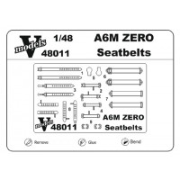 Photo-etched set 1/48 for A6M Zero seatbelts