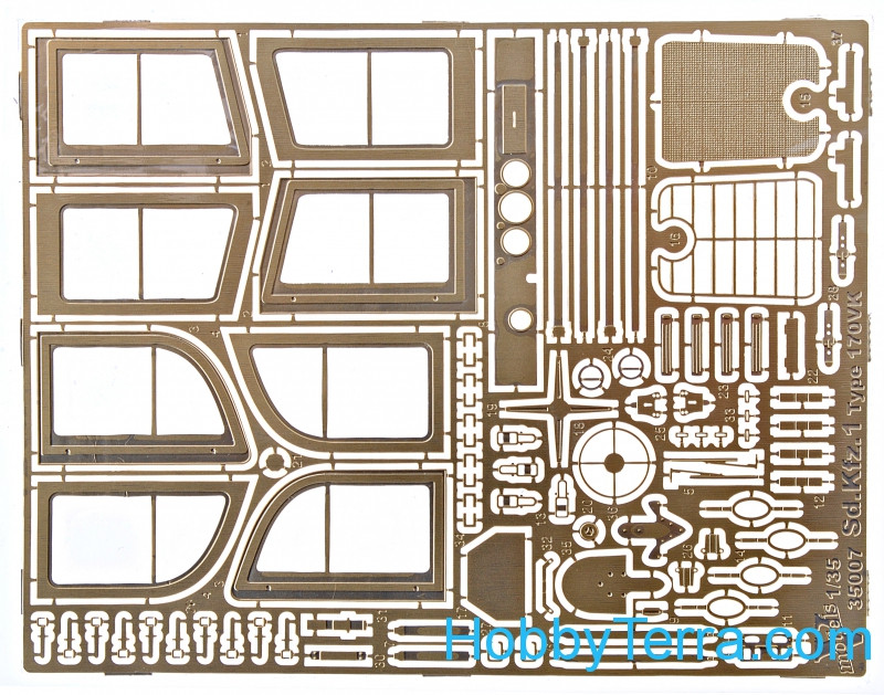 Photo-etched set 1/35 for Sd.Kfz.1 Type 170VK