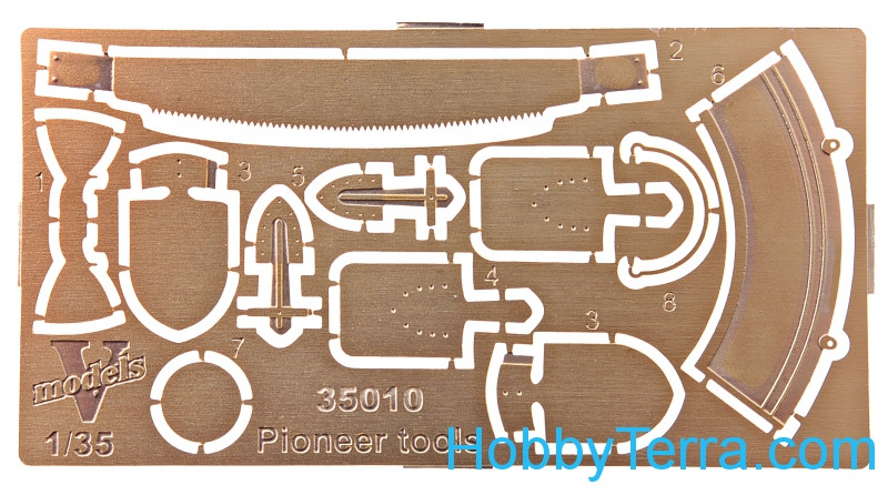 Photo-etched set 1/35 Pioneer tools
