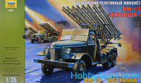 "BM-13 ""Katyusha"" multiple rocket launchers"