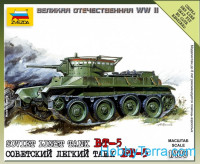 BT-5 Soviet light tank, scale 1/100