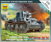 German light tank Pz.Kpfw.38(t), scale 1/100