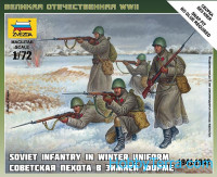 Soviet infantry in winter uniform (1941-1942)