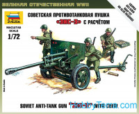 Soviet anti-tank gun ZIS-3 with crew