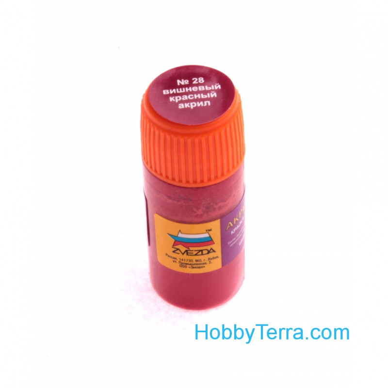 Zvezda Water Based Acrylic Paint Cherry Red Zvezda