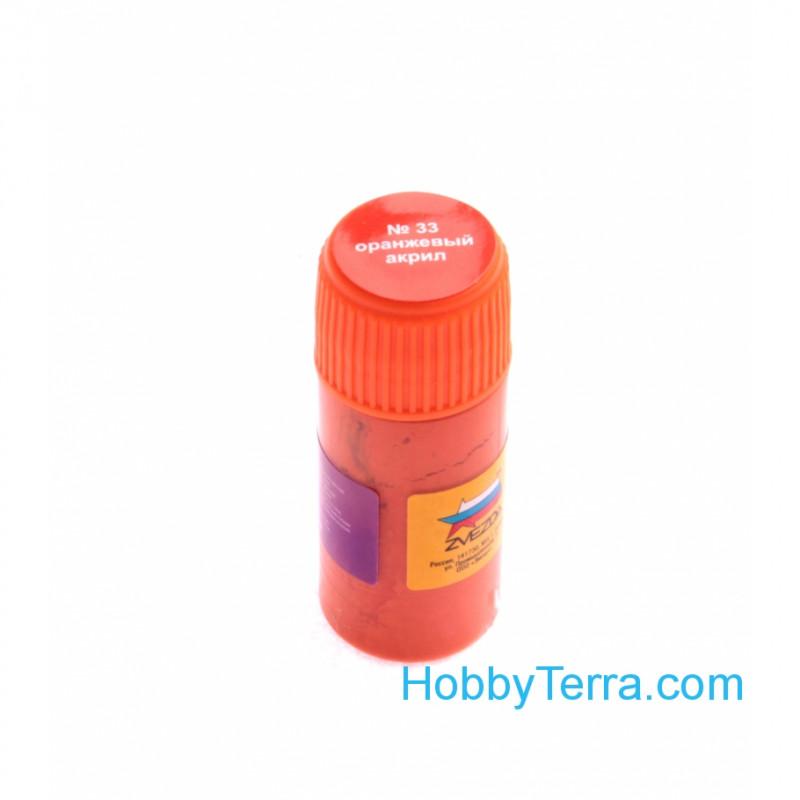 Zvezda Water Based Acrylic Paint Orange Zvezda