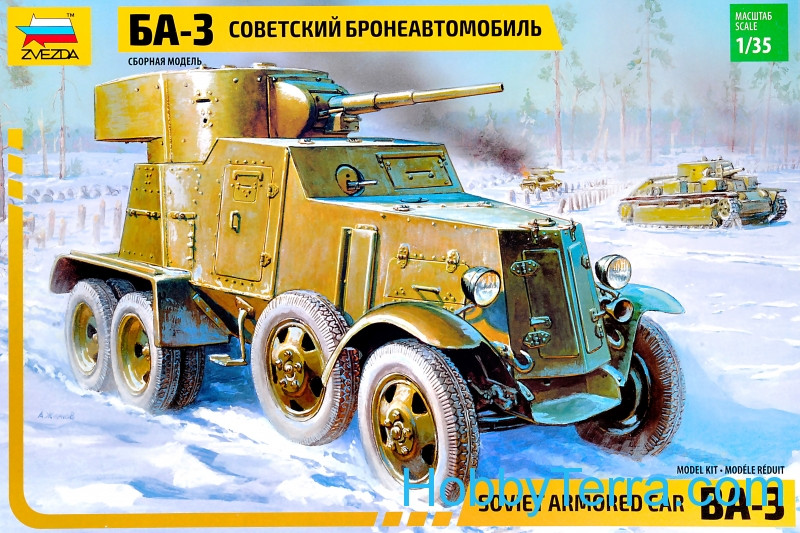Soviet armored vehicle BA-3