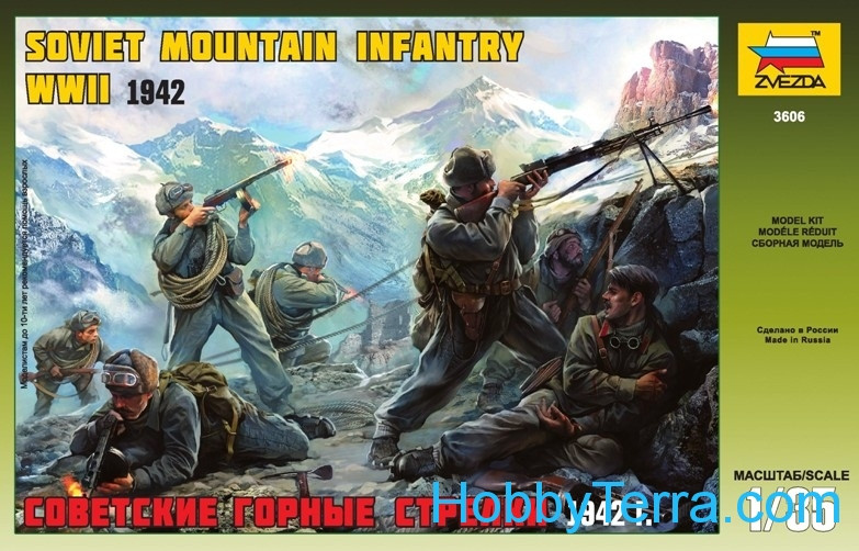 WWII Soviet mountain infantry