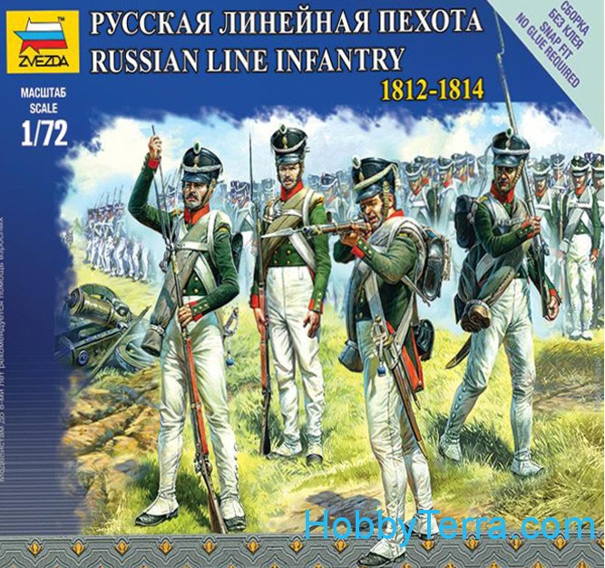 Russian line infantry, 1812-1814