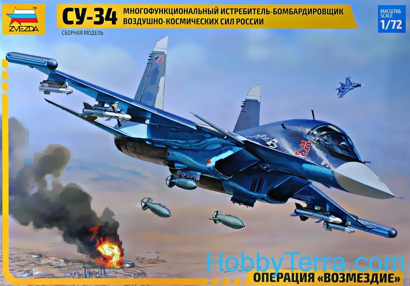 1:72 scale Su-34 Russian fighter-bomber Zvezda 7298 ...
