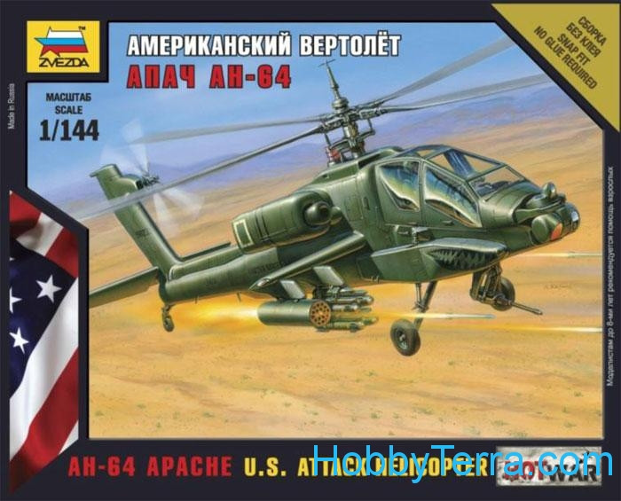 "AH-64 ""Apache"" U.S. attack helicopter"