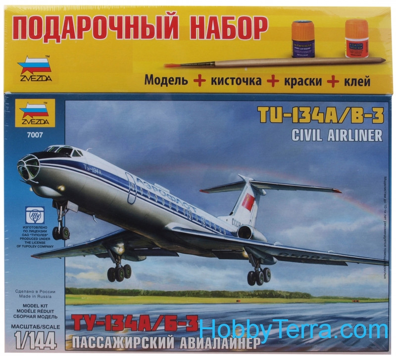 Gift Set. Airliner Tu-134 A/B-3