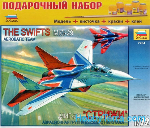 Zvezda  7234 Model Set. MiG-29 'The Swifts' Russian aerobatic team