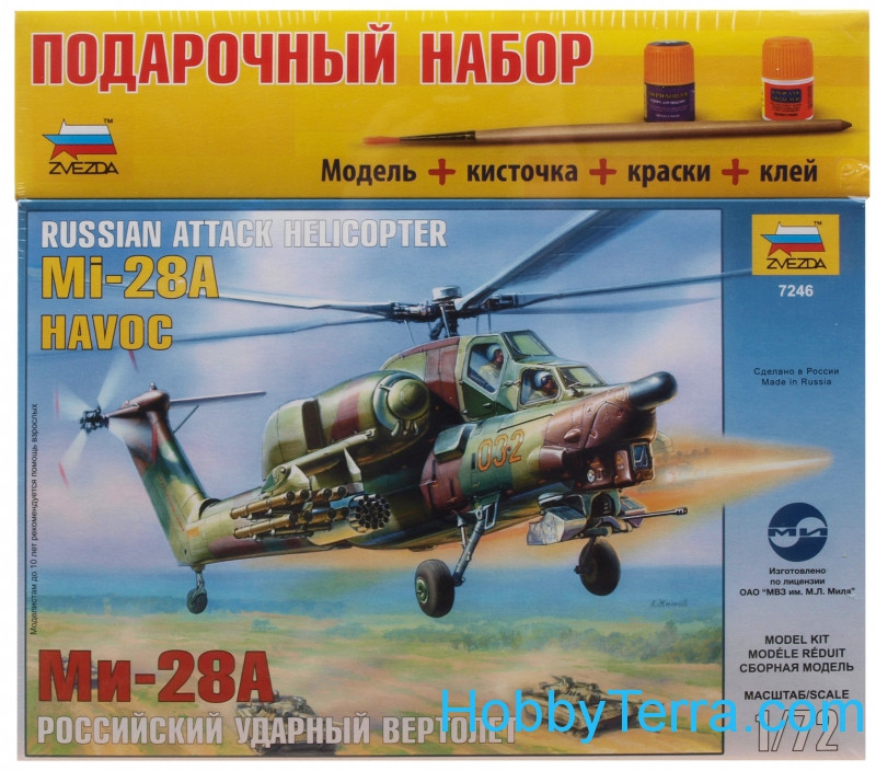 Model Set. Russian attack helicopter Mi-28A