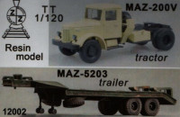 MAZ-200V with trailer MAZ-5203